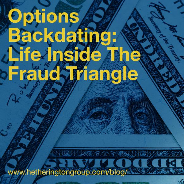 Options Backdating Life Inside The Fraud Triangle Hetherington Group