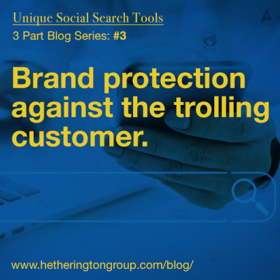 Unique Social Search Tools: Brand Protection Against the